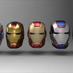 Imprimir en 3D IronMan cascos - coleccion, Hiken_industries