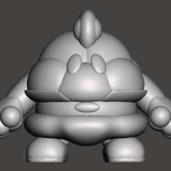 Mallow001.png Download STL file Mallow Super Mario RPG • 3D print model, ckyer85