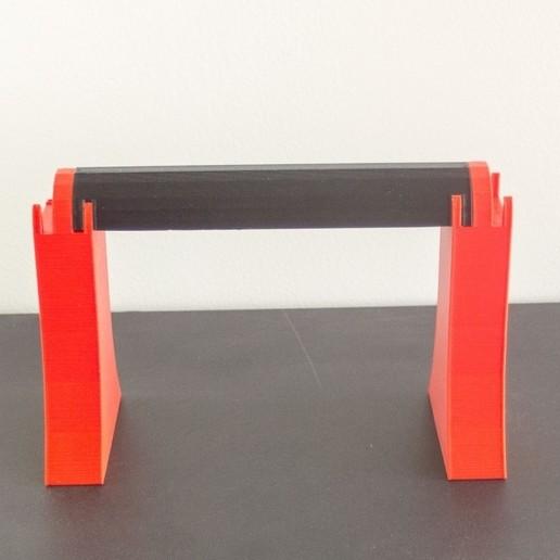 Download free 3D printing designs spool , filament holder, Madebyclarke