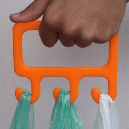 Download free 3D printer model bag holder, Madebyclarke