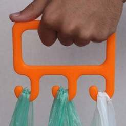 Download free 3D printer model bag holder, Madebyclarke