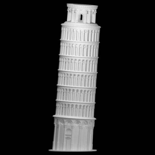 Download free STL files leaning tower of pisa, Madebyclarke