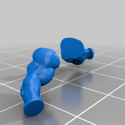 Captain_Bare_Arms.png Download free STL file Space Soldier Arms Without Armor • Template to 3D print, SirPrintALot