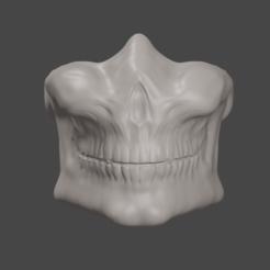 SkullRender1.PNG Télécharger fichier STL Masque de crâne • Modèle imprimable en 3D, Only3DThatyouNeed