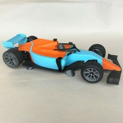 Stand1_Small.JPG Download 3MF file Open RC F1 MKII Car Stand • 3D printing template, marklandsaat