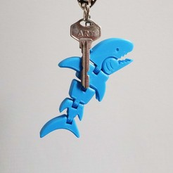 shark_cults.jpg Download free STL file Tiny Shark Flexy Keychain • 3D printable template, hardprint2018
