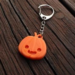 IMG_4186.jpg Download free STL file Halloween Pumpkin Keychain • 3D printable model, hardprint2018