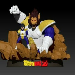 vbvggy.jpg Download STL file Vegeta - Dragonball Z - 3d model  • 3D printing model, khuongtainang2