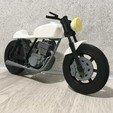 Download free 3D printing files Moto Cafe Racer scalemodel, aurelien5438