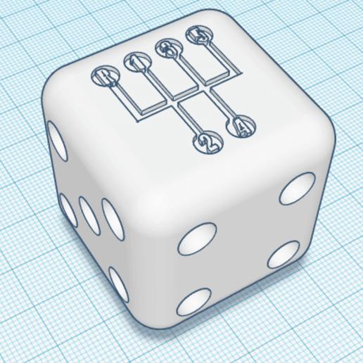 DiceShifter.png Download free OBJ file Dice Shifter - 5 Speed VW • 3D printer design, dice81