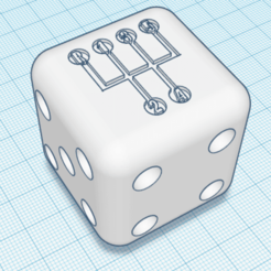 Download free 3D printing templates Dice Shifter - 5 Speed VW, dice81
