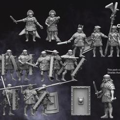 Legionaries-1.jpg Download STL file 28mm EI Roman Legionaries • Design to 3D print, RedDawnMiniatures