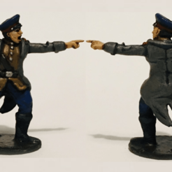 Commissar PAinted (2).png Download STL file 28mm 1/56 Soviet Commissar WW2  • 3D printing design, RedDawnMiniatures