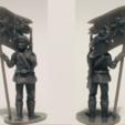 Download 3D printing models Soviet Naval Brigade Flag Bearer 28mm 1/56, RedDawnMiniatures