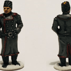 WO Painted (2).png Download STL file Winter Soviet General or Officer HQ 28mm / 1:56 scale • 3D printing model, RedDawnMiniatures