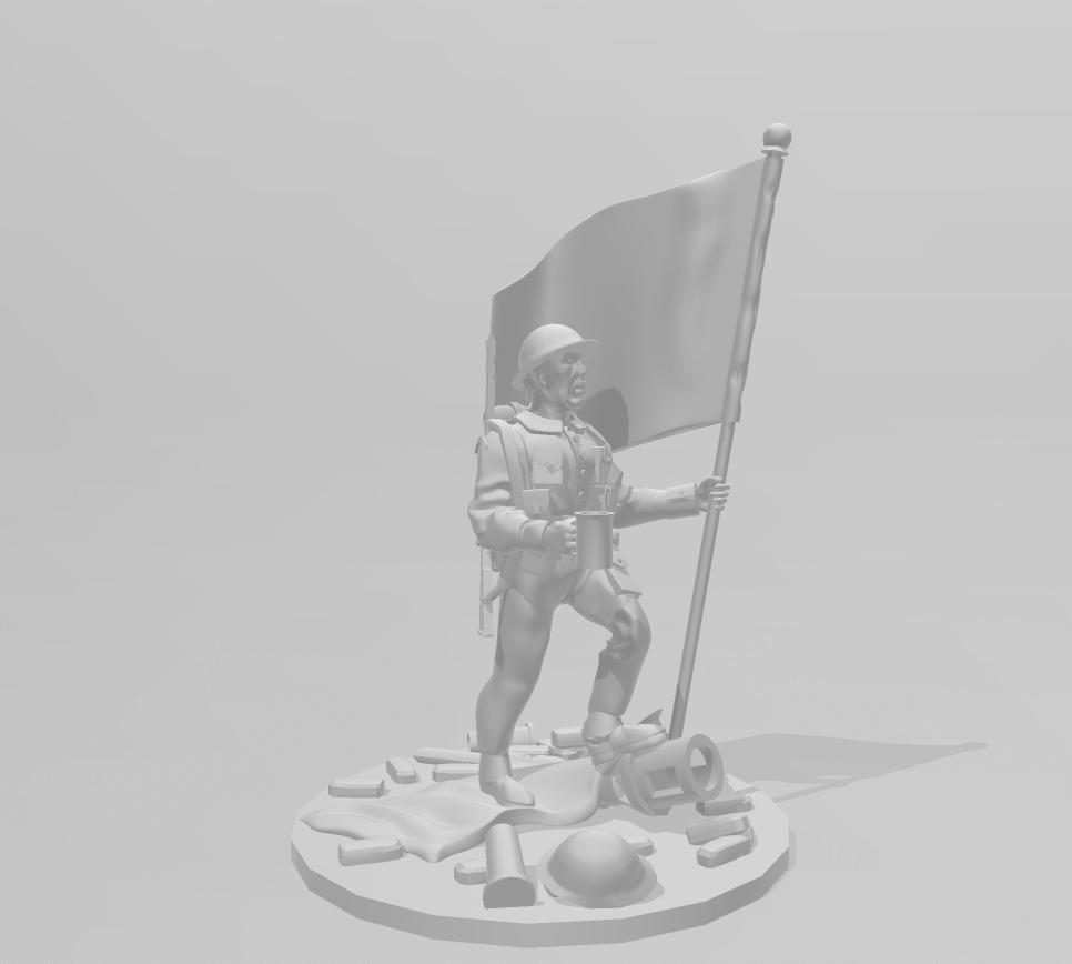 VE Day Brit.png Télécharger fichier STL gratuit 28mm Britannia Soldat britannique triomphant de la Seconde Guerre mondiale • Design pour imprimante 3D, RedDawnMiniatures