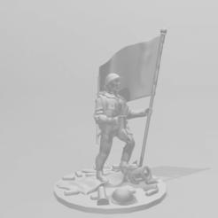 Descargar modelo 3D gratis Soldado británico de la Segunda Guerra Mundial de 28 mm., RedDawnMiniatures