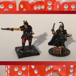 image1 (3).jpeg Download STL file 28mm Samurai Wokou Captains • Template to 3D print, RedDawnMiniatures