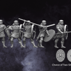 Auxilary Infantry.png Download STL file 28mm Roman Auxiliary Infantry • Model to 3D print, RedDawnMiniatures
