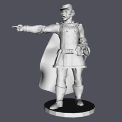Thumbnail 1.png Télécharger fichier STL Modèle d'impression 3D 28mm de l'officier d'infanterie américain de la guerre civile • Plan imprimable en 3D, RedDawnMiniatures