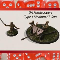IJA Paratrooper type 1 AT Gun.png Download STL file 28mm Type 1 47mm Medium AT Gun with Multi Part IJA Japanese Paratrooper Crew • Design to 3D print, RedDawnMiniatures