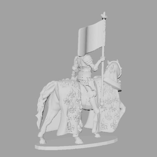 Download STL files Joan of Arc / Jeanne d'Arc 28mm 1/56, RedDawnMiniatures