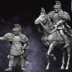 Roman Commander.jpg Download STL file 28mm EI Roman Commander • Design to 3D print, RedDawnMiniatures