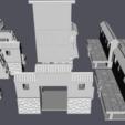 Download 3D printing templates 28mm Samurai Japanese Castle Walls , RedDawnMiniatures