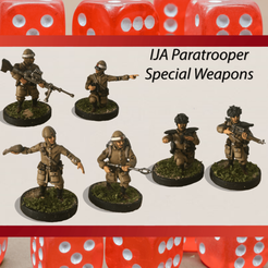 IJA Paratroopers Special Weapons.png Download STL file 28mm IJA Paratrooper Special Weapons Teams • 3D printing design, RedDawnMiniatures