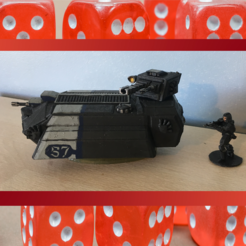 Light AFV Thumbnail 2.png Download STL file 28mm Sci Fi Futuristic Light Tank AFV  • 3D printing design, RedDawnMiniatures