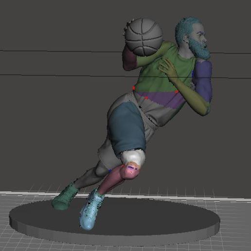 harden.JPG Download free STL file NBA basketball star James harden • 3D printer design, artom212
