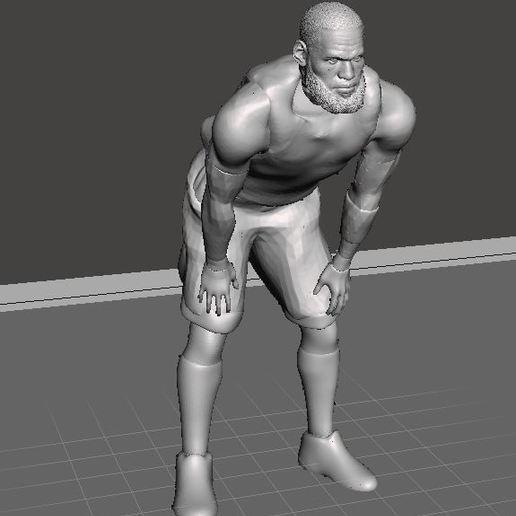 Lebron James basketball player NBA.JPG Download free STL file Lebron James basketball player NBA • 3D printer model, artom212