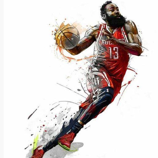 harden2.JPG Download free STL file NBA basketball star James harden • 3D printer design, artom212