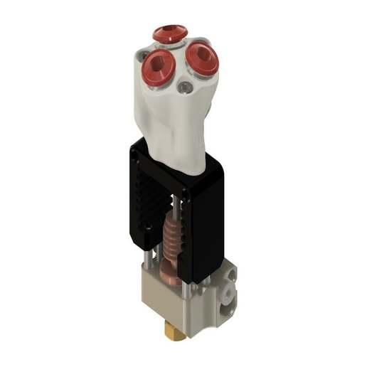 Adapter1.jpg Télécharger fichier STL gratuit Mosquito Hotend - Adaptateur multi-matériaux / 3in-1out • Plan pour imprimante 3D, Exerqtor