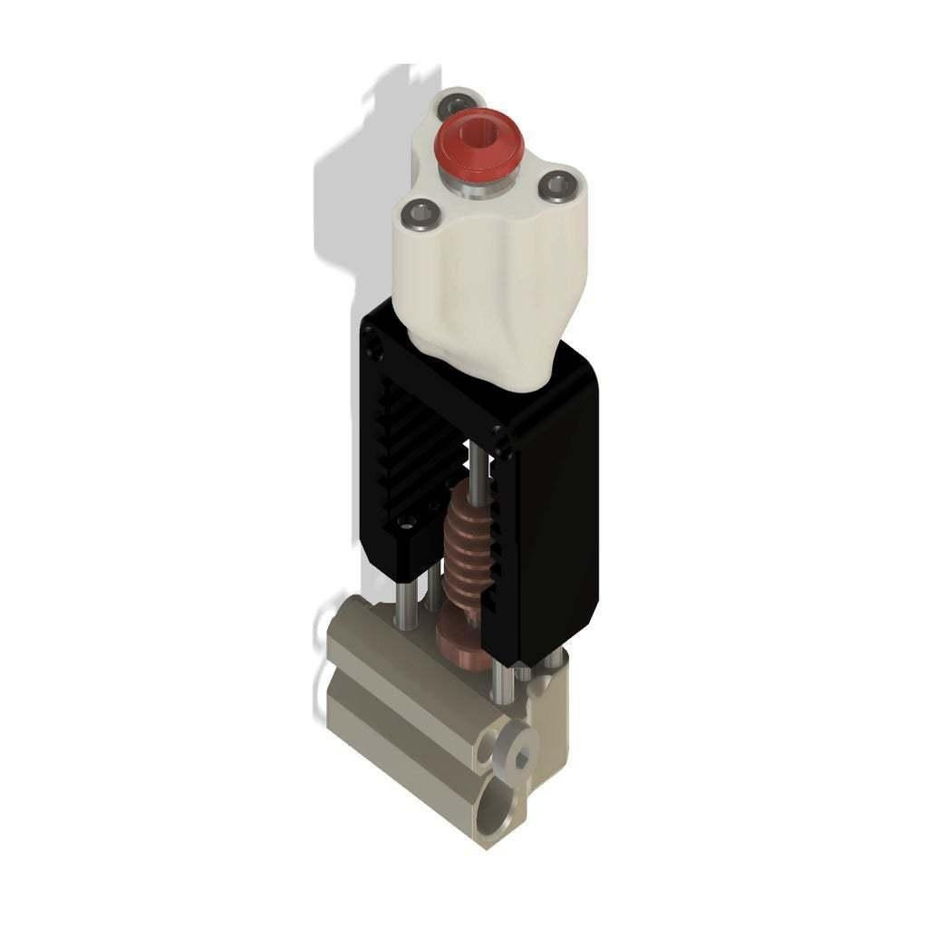 Adapter3.jpg Télécharger fichier STL gratuit Mosquito Hotend - Adaptateur multi-matériaux / 3in-1out • Plan pour imprimante 3D, Exerqtor