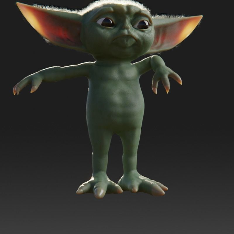 baby-yoda-rigged-3d-model-low-poly-rigged-fbx-c4d-blend (6).jpg Télécharger fichier STL gratuit Baby Yoda Rigged Low-poly 3D model • Plan pour impression 3D, Anxhelo24j
