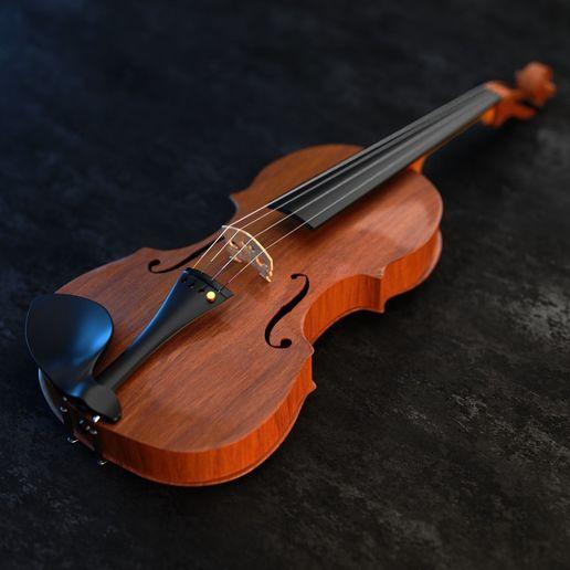 Download free 3D printer designs ealistic violin 3D model, Anxhelo24j