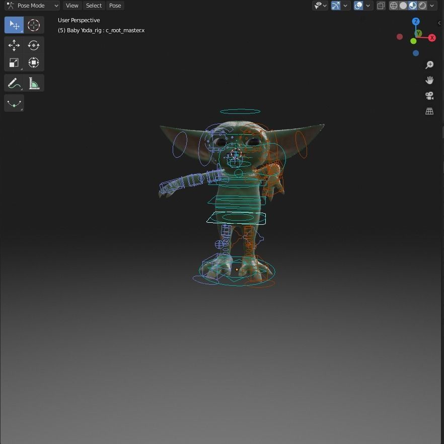 baby-yoda-rigged-3d-model-low-poly-rigged-fbx-c4d-blend (8).jpg Télécharger fichier STL gratuit Baby Yoda Rigged Low-poly 3D model • Plan pour impression 3D, Anxhelo24j