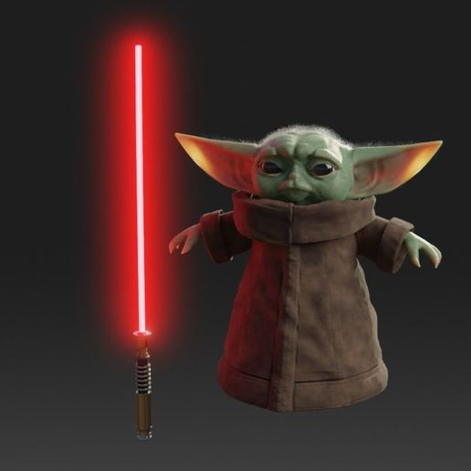 baby-yoda-rigged-3d-model-low-poly-rigged-fbx-c4d-blend (2).jpg Télécharger fichier STL gratuit Baby Yoda Rigged Low-poly 3D model • Plan pour impression 3D, Anxhelo24j