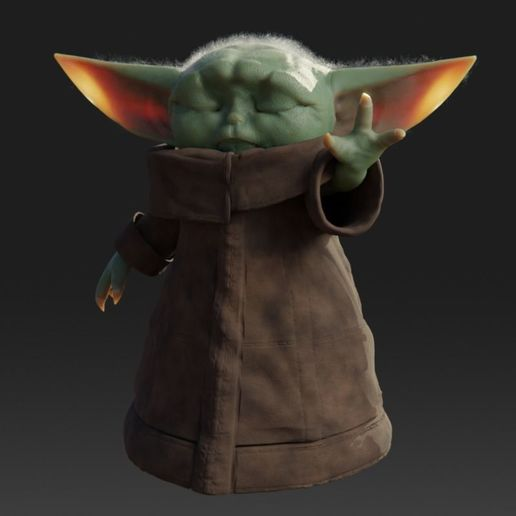 baby-yoda-rigged-3d-model-low-poly-rigged-fbx-c4d-blend (5).jpg Télécharger fichier STL gratuit Baby Yoda Rigged Low-poly 3D model • Plan pour impression 3D, Anxhelo24j