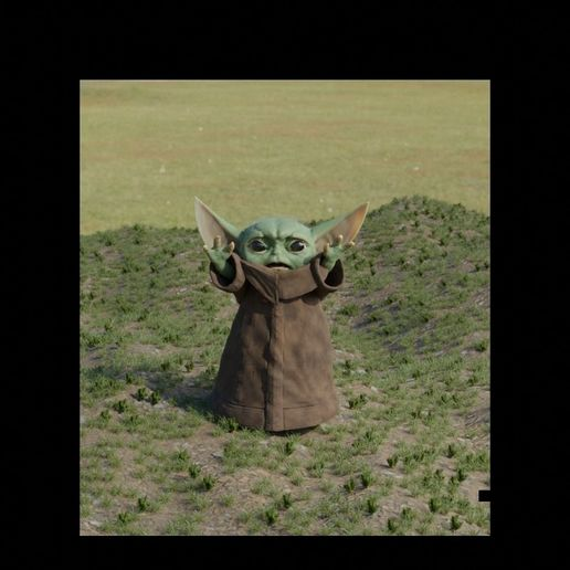 baby-yoda-rigged-3d-model-low-poly-rigged-fbx-c4d-blend (4).jpg Télécharger fichier STL gratuit Baby Yoda Rigged Low-poly 3D model • Plan pour impression 3D, Anxhelo24j