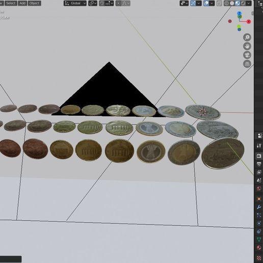 Télécharger fichier STL gratuit All Euro Coins 3D model • Plan pour impression 3D, Anxhelo24j