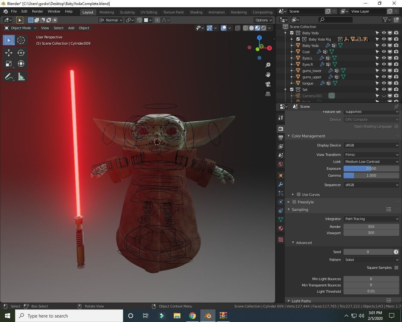 baby-yoda-rigged-3d-model-low-poly-rigged-fbx-c4d-blend (3).jpg Télécharger fichier STL gratuit Baby Yoda Rigged Low-poly 3D model • Plan pour impression 3D, Anxhelo24j