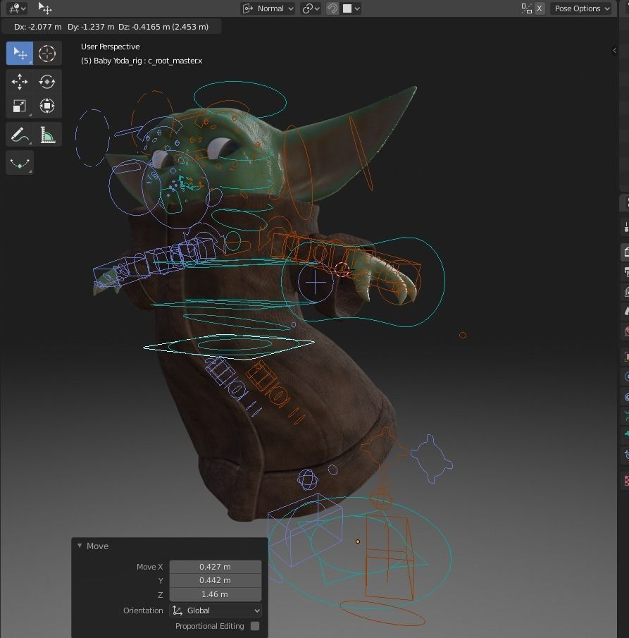 baby-yoda-rigged-3d-model-low-poly-rigged-fbx-c4d-blend (9).jpg Télécharger fichier STL gratuit Baby Yoda Rigged Low-poly 3D model • Plan pour impression 3D, Anxhelo24j