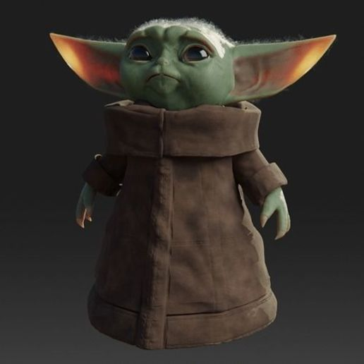 Download free 3D printer model Baby Yoda Rigged Low-poly 3D model, Anxhelo24j