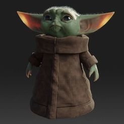 Télécharger fichier STL gratuit Baby Yoda Rigged Low-poly 3D model, Anxhelo24j