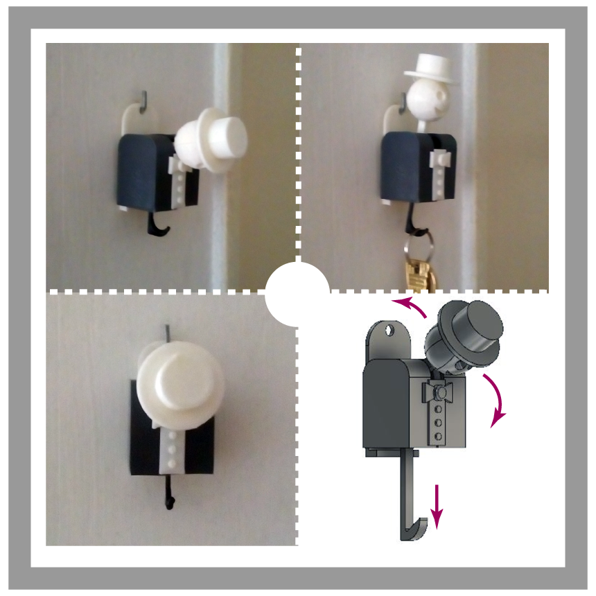 happyman-keyholder.png Descargar archivo STL Happy Man Key Holder • Diseño para la impresora 3D, manzanitalm123