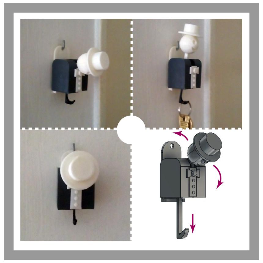 happyman-keyholder.png Download STL file Happy Man Key Holder • 3D printing object, manzanitalm123