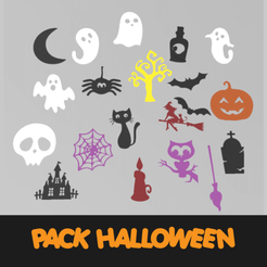PROYECTO1.png Download STL file Halloween Pack (21 figures) • 3D printable model, manzanitalm123