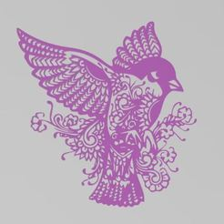 mandalabird.JPG Download STL file Bird Mandala • 3D printable model, manzanitalm123